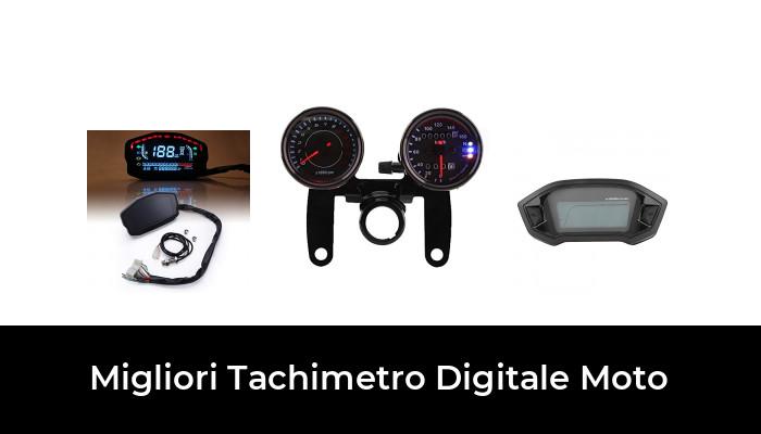 Qiilu Contatore strumenti moto universale display LCD TFT Tachimetro contachilometri contagiri Adatto per moto a 2//4 cilindri