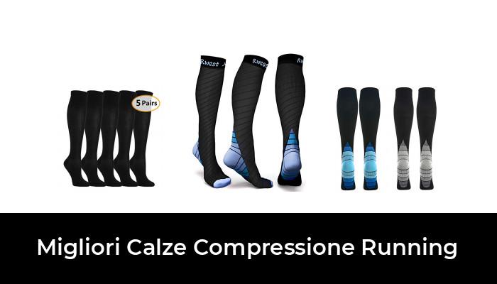 in Colore Bluette fibra LYCRA MICO CALZE RUNNING LIGHT Lunghe in Maglia nylon OXI-JET COMPRESSION per Woman//Donna Sportiva 100/% Made in Italy +ossigeno +recupero +energia